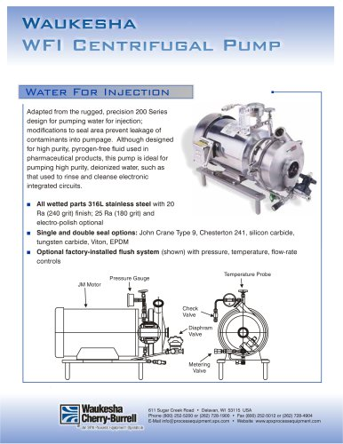 WFI Centrifugal Pump