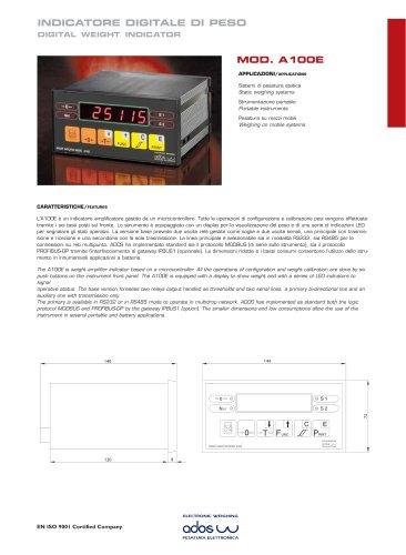 DIGITAL WEIGHT INDICATORS A100E