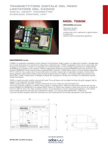 DIGITAL WEIGHT TRANSMITTERS T050