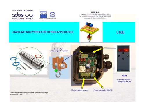 LOAD LIMITING SYSTEM MODEL L08E