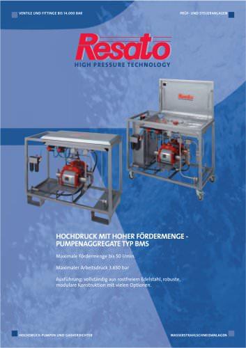 Hochdruck mit hoher Fördermenge Pumpenaggregate
