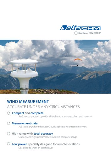 Delta OHM Wind Measurement - Overview
