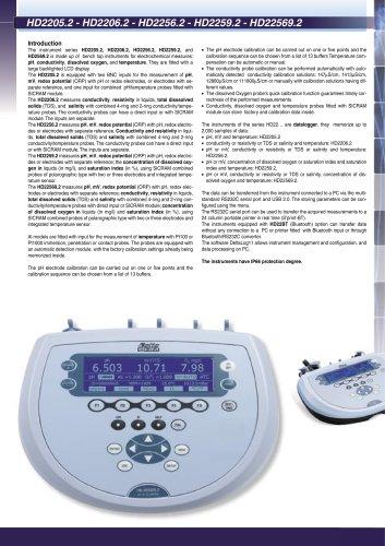 Instrument Benchtop dissolved oxygen HD 2259.2