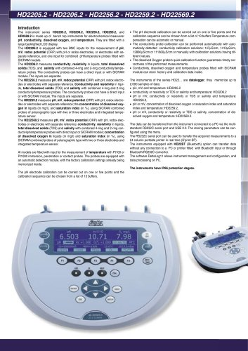 Instrument Benchtop PH meters HD 2205.2