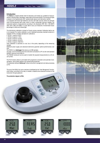 Instrument Benchtop Turbidity HD 25.2