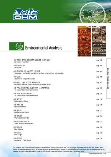 Meteo & Environmental Analysis