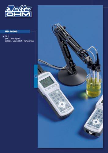 pH - Leitfähigkeit - gelöster Sauerstoff - Temperatur