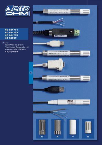 Transmitter für relative Feuchte und Temperatur mit analogem oder digitalem  Ausgangssignal