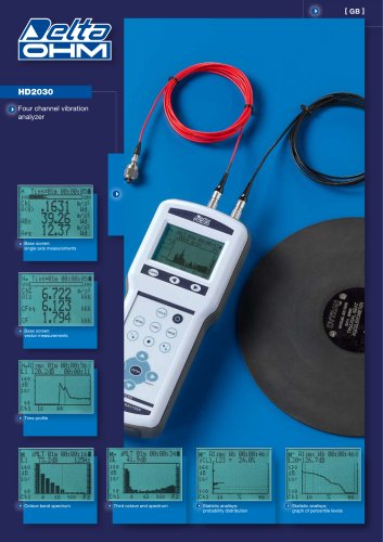 Vibration analyzer HD 2030