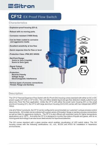 CF12EX Proof Flow Switch
