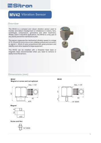 MV42 V ibration Sensor