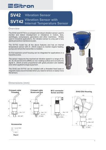 SV42Vibration Sensor SVT42 Vibration Sensor with Internal Temperature Sensor