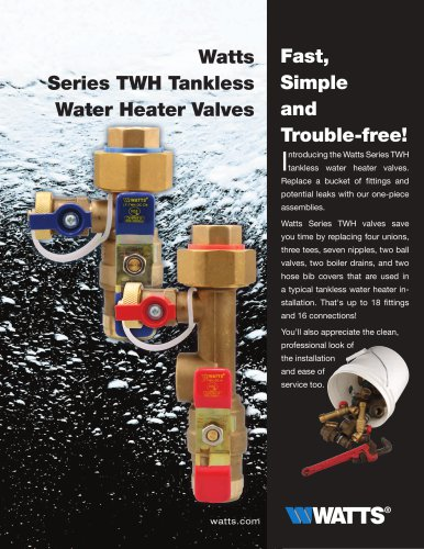 Series TWH Tankless Water Heater Valves