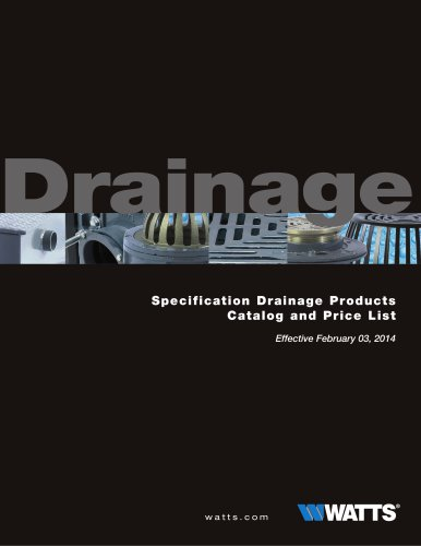 Specification Drainage Products Price List