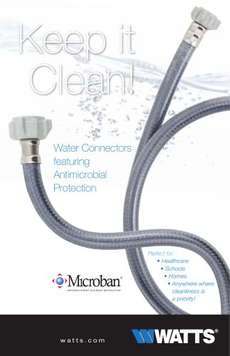 Water Connectors Featuring Antimicrobial Protection