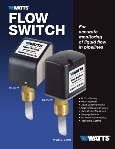 Watts Flow Switch