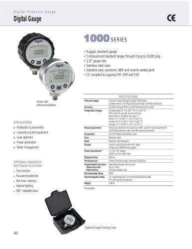 1000 Series Digital Pressure Gauges