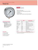 800 Series Precision Test Pressure Gauges
