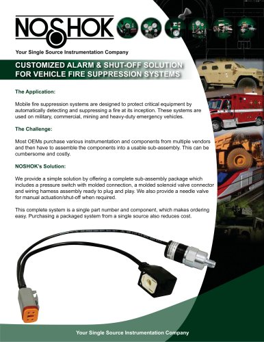 Alarm/Shut-off Package for Vehicle Fire System Flyer - NK11FS