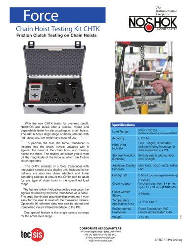 Chain Hoist Test Kit (CHTK) Flyer CHTK07-F