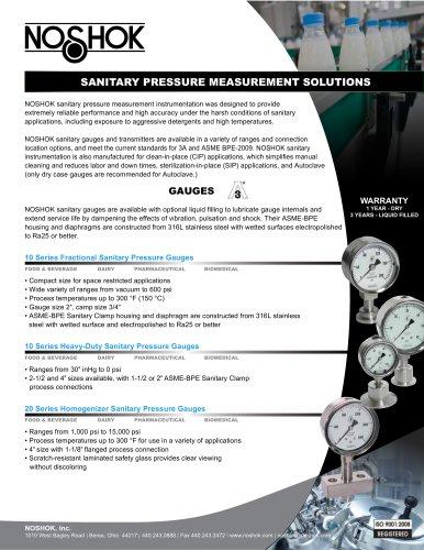 Sanitary Pressure Measurement Solutions NK10SPMS