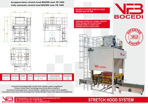 Stretch Hooder FB 1000 with patented systems