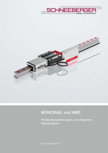 MONORAIL und AMS - Profilschienenführungen und integrierte Messsysteme