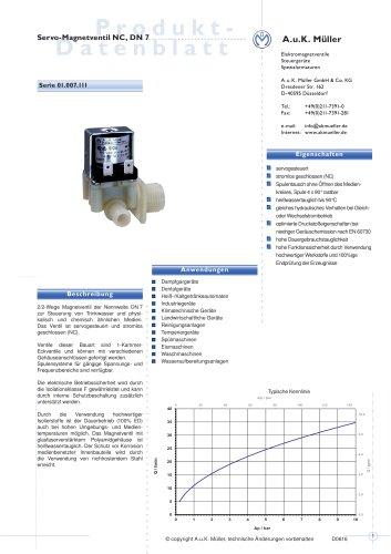 01.007.111 Servo-Magnetventil NC, DN 7