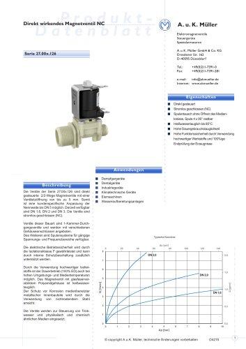 Direkt wirkendes Magnetventil NC, DN 1,6 / 2,0 / 3,0