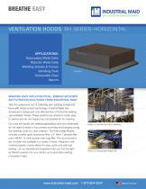 INDUSTRIAL MAID ROBOTIC AND AUTOMATED WELDING CELL HOODS: HORIZONTAL MODELS