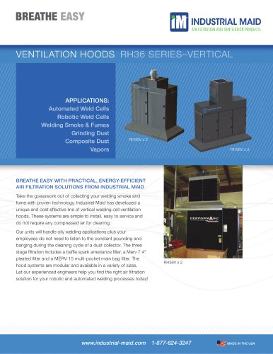 INDUSTRIAL MAID ROBOTIC AND AUTOMATED WELDING CELL HOODS: VERTICAL MODELS