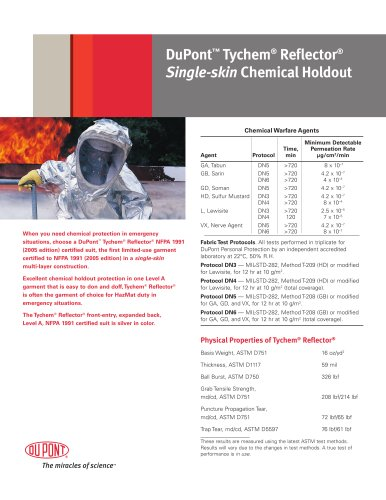 Tychem® Reflector Technical Data Sheet