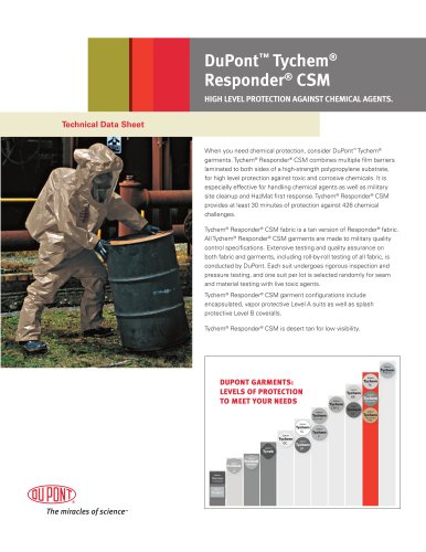 Tychem® Responder CSM Technical Data Sheet