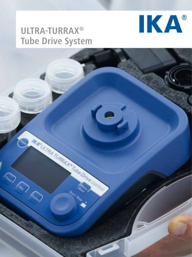 IKA ULTRA-TURRAX® Tube Drive Flyer