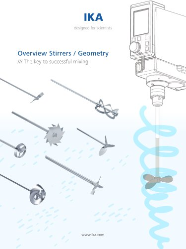 Overview Stirrers / Geometry