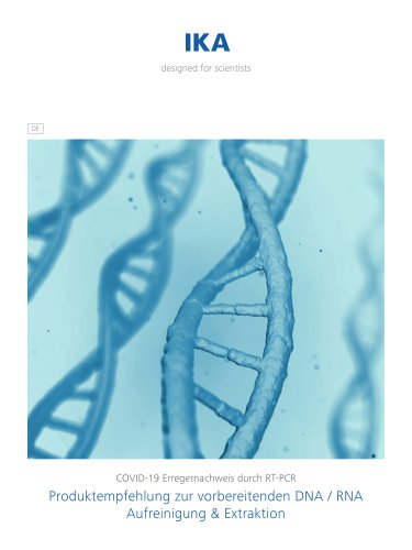 Produktempfehlung zur vorbereitenden DNA / RNA Aufreinigung & Extraktion