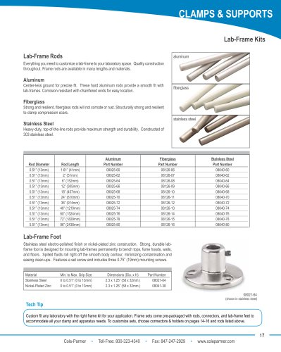 Cole-Parmer® lab-frame kits brochure