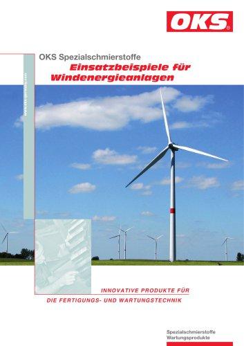 Einsatzbeispiele für Windenergieanlagen: OKS 400, OKS 495, OKS 510, OKS 2650