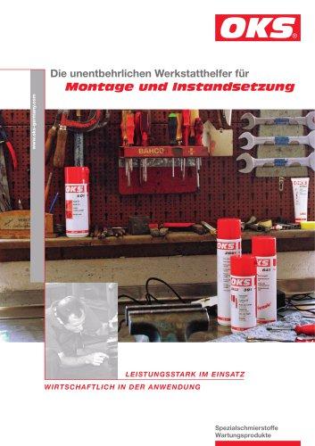 Die unentbehrlichen Werkstatthelfer von OKS für Montage und Instandsetzung