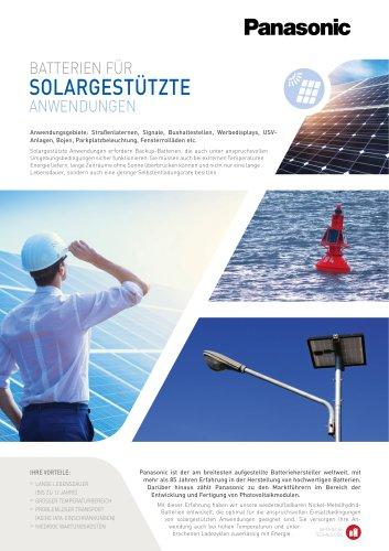Ni-MH batteries leaflet - Solar power