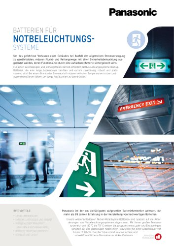 NOTBELEUCHTUNGS SYSTEME