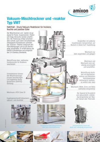 Vakuum-Mischtrockner und -reaktor Typ VMT