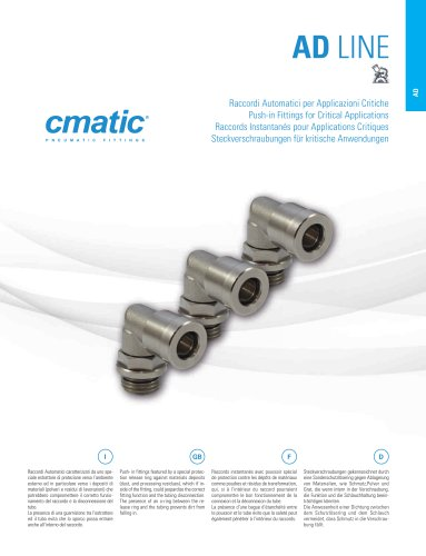 AD - Push in Fittings for Critical Applications