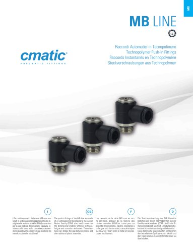 MB - Technopolymer Push in Fittings