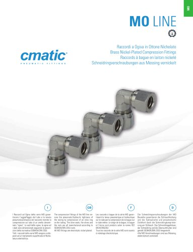 MO - Brass Nickel Plated Compression Fittings