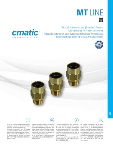 MT Line - Push-in fittings for Air Brake Systems