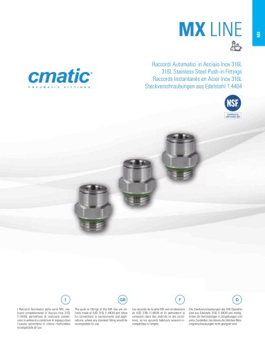 MX - 316L Stainless Steel Push in Fittings