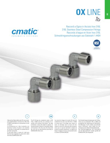 OX - 316L Stainless Steel Compression Fittings
