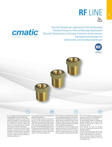 RF Line - Standard fittings for Food and Beverage applications