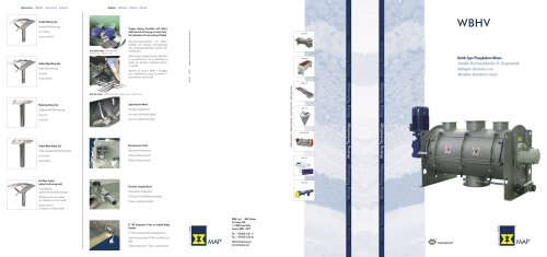 Batch-Type Ploughshare Mixers WBHV Brochure